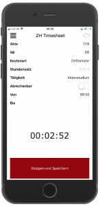 Screenshot RA-MICRO Zeiterfassung APP